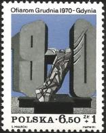 V) 1981 POLAND, 1970 UPRISING MEMORIAL, MONUMENT, GDYNIA, MNH - 1944-.... Republic