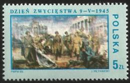 V) 1985 POLAND, PAINTING, LIBERATION FROM GERMAN OCCUPATION, 40TH ANNIV, VICTORY BERLIN 1945, BY JOZEF MLYNARSKI, MNH - 1944-.... Republic