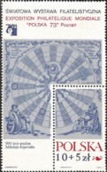V) 1972 POLAND, POLSKA 73 INTL. PHIL. EXHIB, NICOLAUS COPERNICUS (1473-1543), ASTRONOMER, MNH - Unused Stamps