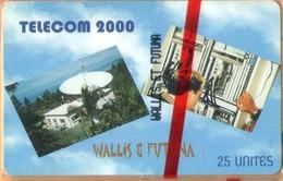Wallis And Futuna - WF-SPT-0014A, Telecom 2000, With CN, Satellite Dishes, Telephony, 25U, 600ex, 3/98, Mint NSB - Wallis Und Futuna