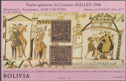 BOLIVIA - 1986 - Foglietto Nuovo MNH Michel Block 152, Cometa Di Halley. - Bolivie