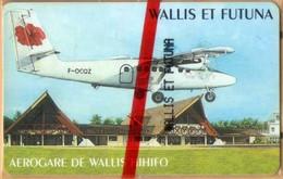 Wallis And Futuna - WF-SPT-0015, Aérogare De Wallis Hihifo, CN 0000+4 Digits, Aircraft, 80U, 1000ex, 3/98, Mint NSB - Wallis Und Futuna