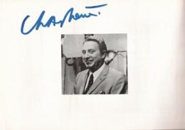Récital D'adieux à La Scène De Charles Trenet (Autographe) - Handtekening