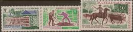 NEW CALEDONIA 1969 Cattle SG 467-9 UNHM #WO171 - Neukaledonien