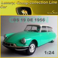 Neuve, Citroën DS 19 De 1956 à L'échelle 1:24 Auto Vintage N°60 Métal - Cars & 4-wheels