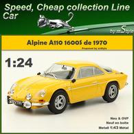 Neuf Alpine Renault A110 1600 S Jaune 1970 1/24 Auto Vintage N°80 Métal - Cars & 4-wheels