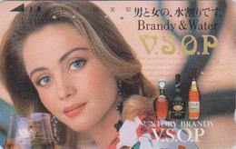 Télécarte Japon / 110-011 - ALCOOL - WHISKY - SUNTORY - Femme Girl Woman - Alcohol Japan Phonecard  - ALKOHOL TK - 1079 - Alimentazioni