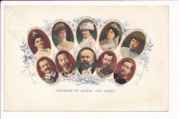 Honneur Et Gloire Aux Alliés ( Le Tzar Impératrice De Russie Reine élisabeth Albert 1er Poincaré Georges V Mary - Patrióticos