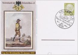Ganzsache Tag Der Briefmarke 1941, Kolmar - Besetzungen 1938-45