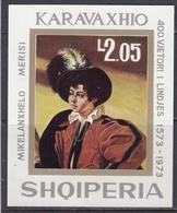 Albania 1973 - Painting Of CARAVAGGIO, Michel Block 48, MNH** - Albania