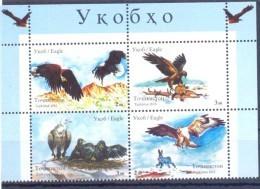 2016. Tajikistan, Eagles Of Tajikistan, 4v Perforated,  Mint/** - Tadschikistan