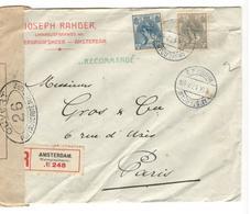 25412 - Recommandée Pour Al France - Periodo 1891 – 1948 (Wilhelmina)