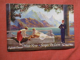 Englands Choicest White Rosa Serges De Luxe For Ideal Wear      Ref 3752 - Pubblicitari