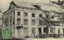 Hotel MOTTET Et Cie Au Cap Saint Jacques Après Le Typhon Di 1e Mai 1904  + Beau Timbre 5 Indo Chine Francaise  RV - Vietnam