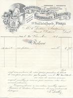 Facture Lettre 1901 - DALLOZ - Pharmacie Granulés - Art Nouveau - - Druck & Papierwaren