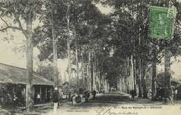 Rue De Bangkok SAIGON + Beau Timbre 5c Indochine Francaise RV - Viêt-Nam