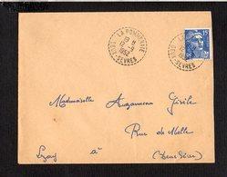 1952 Cachet à Date Manuel Recette Distribution (sans étoile) La Pommeraie Sur Gandon Seul - Marcofilia (sobres)