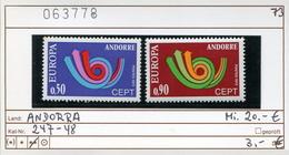Andorra - Andorre -  Michel 247-248 - ** Mnh Neuf Postfris - CEPT - Französisch Andorra