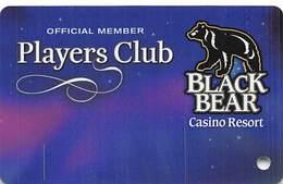 Black Bear Casino - Carlton, MN - BLANK Slot Card - Casino Cards