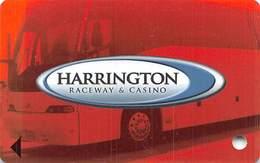 Harrington Raceway Midway Slots - Harrington, DE - BLANK Bus Slot Card With No Manufacturer Mark - Casino Cards