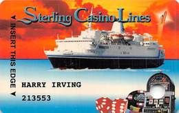 Sterling Casino Lines Club Card / Slot Card - Cape Canaveral, FL Casino Cruise Ships - Casino Cards