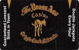 Brass Ass Casino Cripple Creek CO BLANK Slot Card - Smooth Black Front - Casino Cards