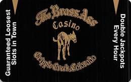 Brass Ass Casino Cripple Creek CO BLANK Slot Card - Dull/Textured Black Front - Casino Cards