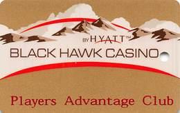 Black Hawk Casino Black Hawk CO - BLANK 3rd Issue Gold Level Slot Card - Casino Cards