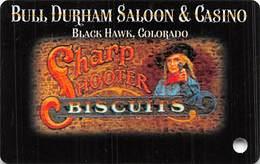 Bull Durham Casino Black Hawk CO - BLANK Slot Card - Casino Cards