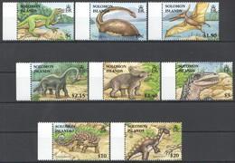 D326 SOLOMON ISLANDS FAUNA PREHISTORIC ANIMALS DINOSAURS #1305-12 1SET !!! MICHEL 12 EURO !!! MNH - Briefmarken