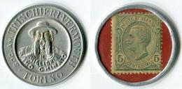 N93-0611 - Timbre-monnaie Trinchieri 5 Centesimi - Kapselgeld - Encased Stamp - Noodgeld