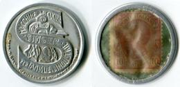 N93-0612 - Timbre-monnaie Singer 10 Centesimi - Kapselgeld - Encased Stamp - Noodgeld