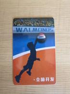 Walmonos Basketball Club Card,boy Play Basketball - Schede Telefoniche