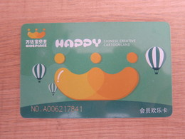 Chinese Creative Cartoonland Membership Card, Hot Balloon - Telefonkarten