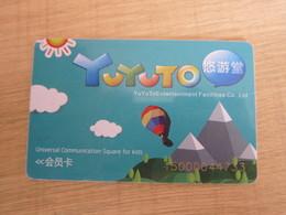 Yu Yu To Entertainment Membership Card, Hot Balloon - Telefonkarten