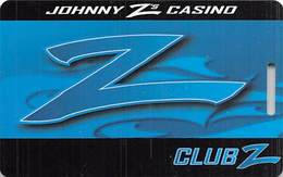 Johnny Z's Casino Central City CO - BLANK Club Z Slot Card - Reverse Text Close To Punched Hole - Casino Cards