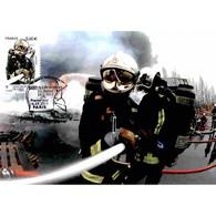 CM TDC - Sapeurs Pompiers De Paris, Protection Casque F1 - 16/9/11 Paris - Cartoline Maximum