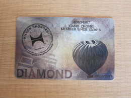 Hilton HHONORS Diamond Card, Hot Balloon - Telefonkarten