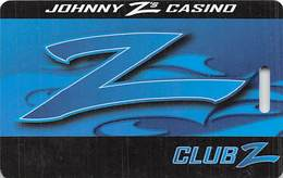 Johnny Z's Casino Central City CO - BLANK Club Z Slot Card - Reverse Text Move Right From Punched Hole - Casino Cards