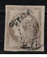 GUYANE     N°  YVERT   10   OBLITERE       ( Ob   5/58 ) - Usados