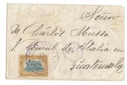 COVER CORREO GUATEMALA - CONSUL ITALIE AU GUATEMALA - 1907 - Guatemala