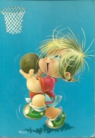 Niño Jugando A Baloncesto. Dibujo. - Basketball