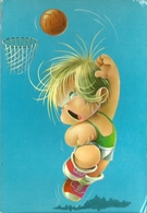 Niño Jugando A Baloncesto. Dibujo. - Basket-ball