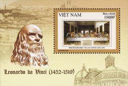 FDC Vietnam Viet Nam With Stamp & Souvenir Sheet Issued On 5 Dec 2019 : 500th Death Ann. Of Leonardo Da Vinci (Ms1116) - Vietnam