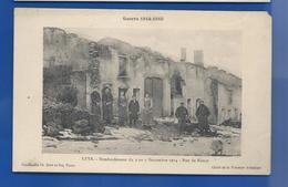 LEYR     Rue De Nancy  Après Bombardement     Animées  écrite En 1916 - Francia