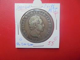 """SARDAIGNE 5 LIRE 1825 """"TORINO"""" ARGENT BELLE PATINE (A.3) - Regional Coins"""