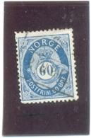 1877 NORVEGE Y & T N° 31 ( O ) 60 Ore - Oblitérés