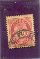 1877 NORVEGE Y & T N° 25 ( O ) 10 Ore - Oblitérés