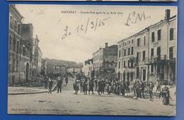 BACCARAT  Grande Rue Après Le 25 Août 1914   Animées   écrite En 1915 - Baccarat