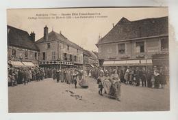 CPSM AUBIGNY SUR NERE (Cher) - Grandes Fêtes Franco-Ecossaises : Cortège Historique 15/08/1931 Les Demoiselles D'honneur - Aubigny Sur Nere